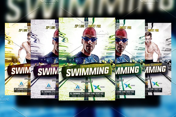 Swimming Flyer Template