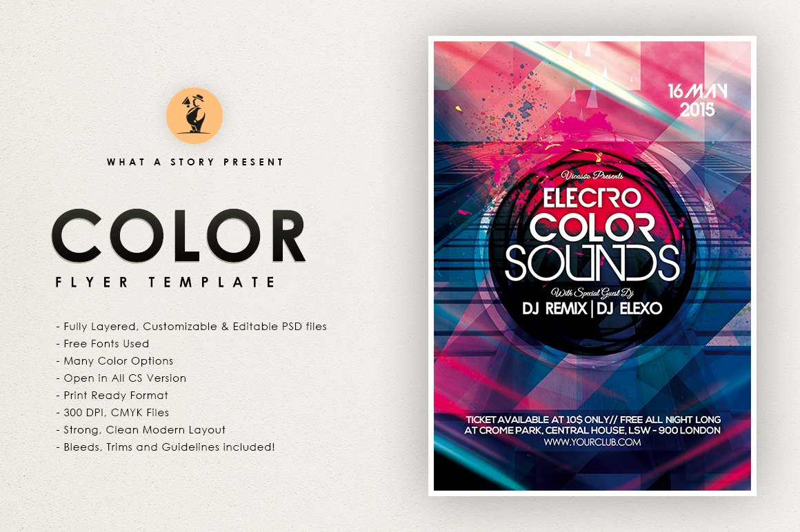Electro Color ~ Flyer Templates ~ Creative Market