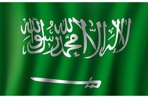 Vector 3D flag of Saudi Arabia national symbol