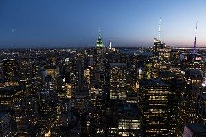Skyline of New York City.