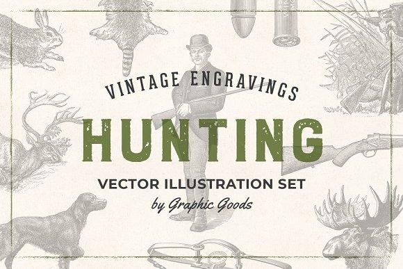 Hunting - Vintage Illustrations