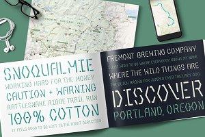 Aventuras Stencil Typeface