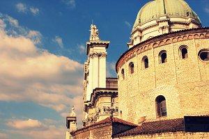 The Duomo Vecchio in Brescia, Italy