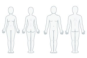 Blank body anatomy chart
