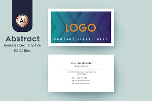 Abstract Business Card Template - 40