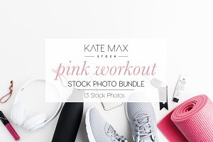 Pink Workout Stock Photo Bundle