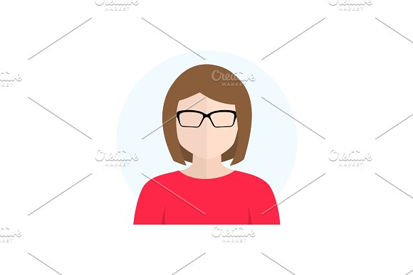 Flat Style Character Avatar Icon