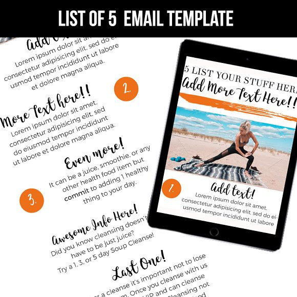 List Email Template