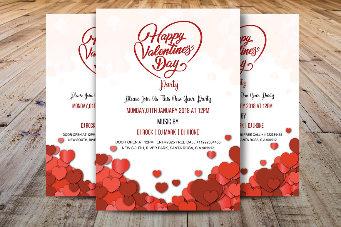 Valentines Day Party Invitation Invitation Templates