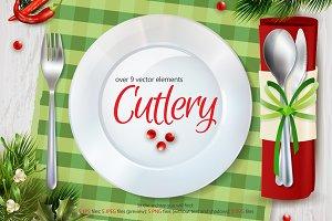 Cutlery Illustrations Set