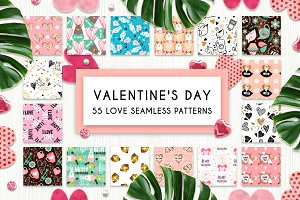 55 Love Seamless Patterns