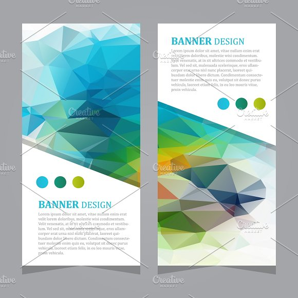 Vector Polygonal Triangular Banners
