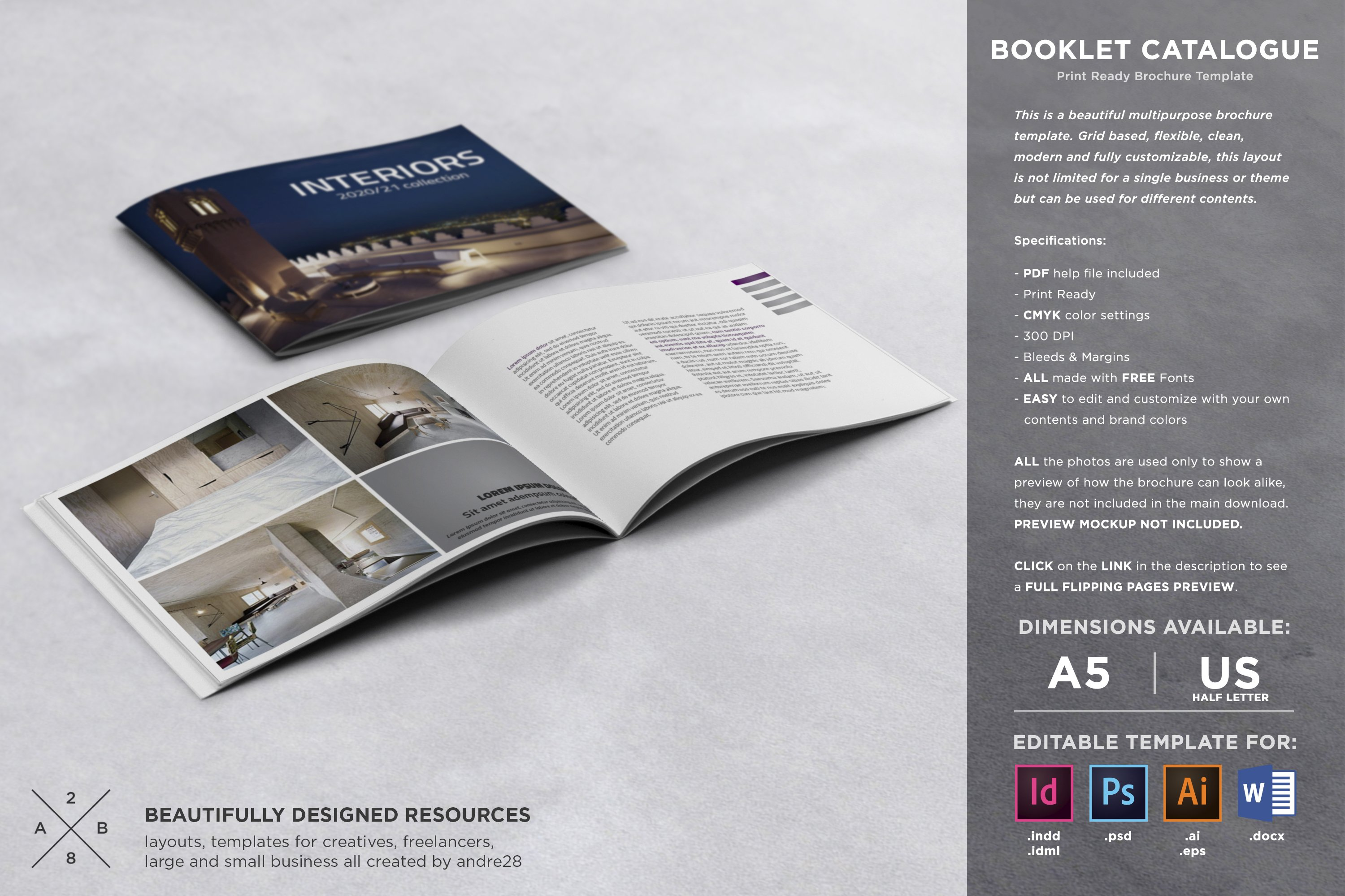 booklet catalogue template brochure templates creative market