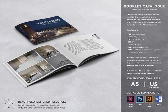 Booklet Catalogue Template