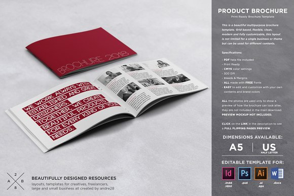 Product Brochure Template Brochure Templates Creative Market
