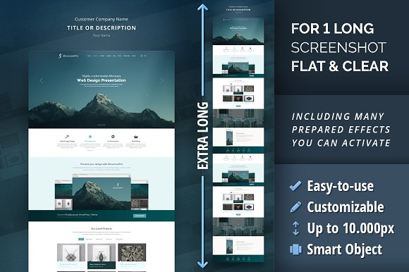 Website Mockups Bundle - 3D & Curved in Product Mockups - product preview 4
