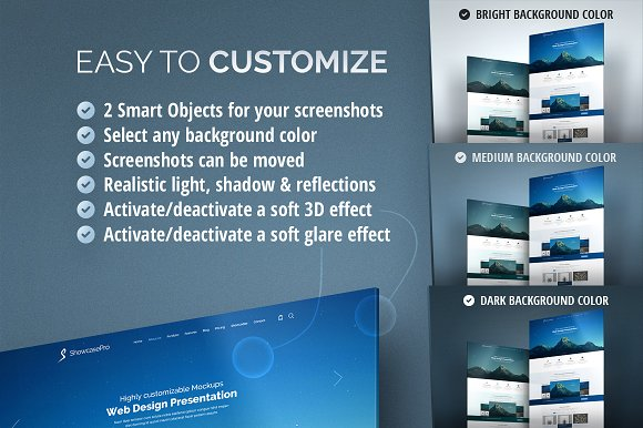 3D Effect Website Mockup in Product Mockups - product preview 1