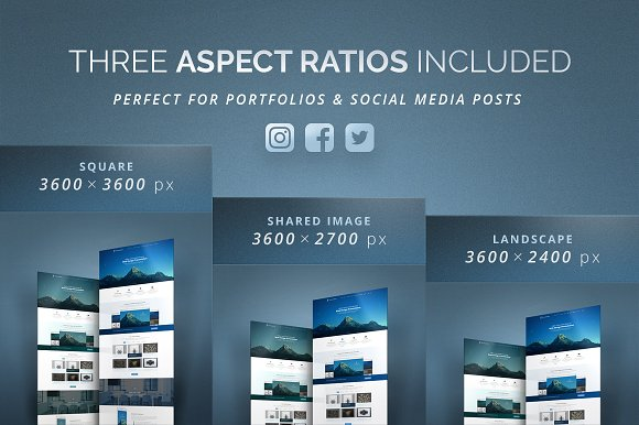 3D Effect Website Mockup in Product Mockups - product preview 2