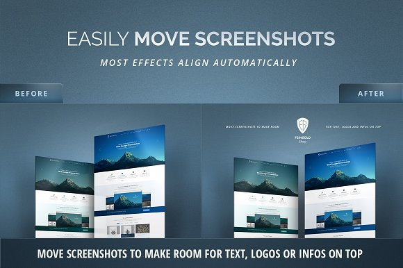 3D Effect Website Mockup in Product Mockups - product preview 3