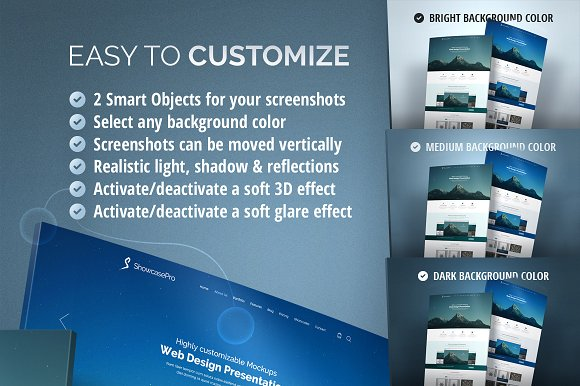 Curved Website Mockup - 3D Effect in Product Mockups - product preview 1