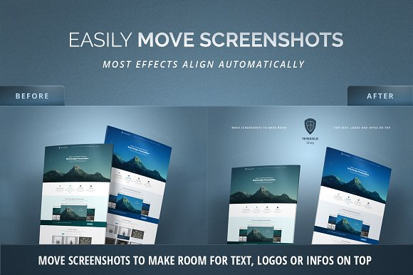 Curved Website Mockup - 3D Effect in Product Mockups - product preview 3