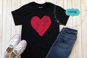 Grunge heart SVG, valentine SVG