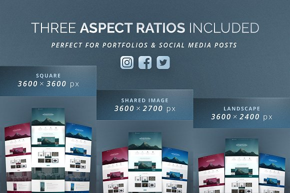 Curved Website Mockup - 3D Effect in Product Mockups - product preview 2
