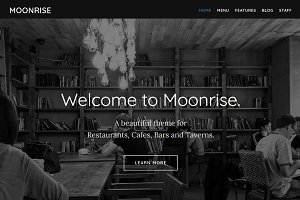 Moonrise Restaurant WordPress Theme