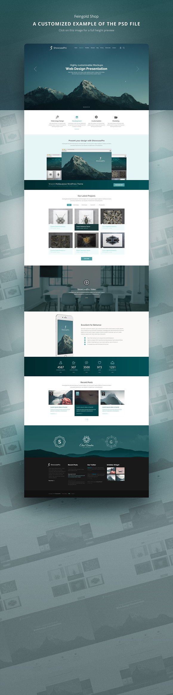 long website mockup for presentation product mockups creative market