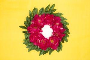 Pink Wreath - Newborn Backdrop