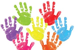 Painted Clipart - Hand prints