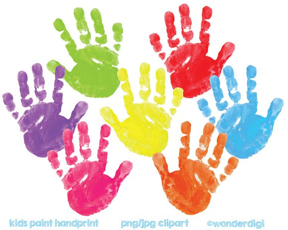 painted clipart hand prints illustrations creative market