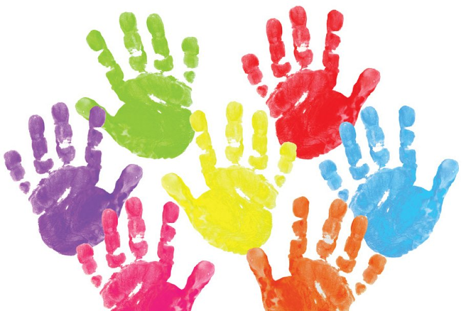Painted Clipart - Hand prints | Custom-Designed Illustrations ~ Creative  Market