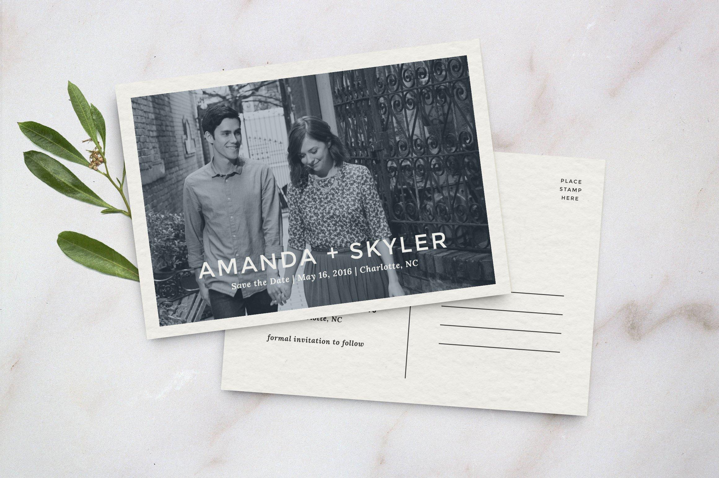 save the date postcard template invitation templates creative market