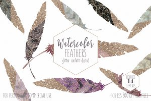 Rose Gold Dipped Feathers
