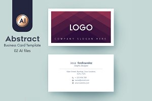 Abstract Business Card Template - 43