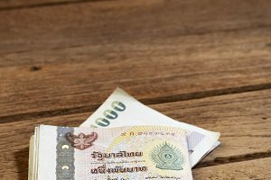 Thailand One Thousand baht Bills
