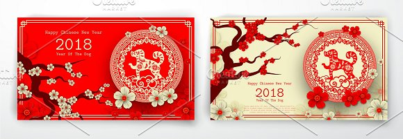 2018 Chinese New Year card-Graphicriver中文最全的素材分享平台