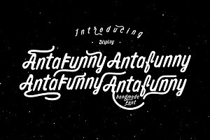 50% off! Antafunny Font + 22 Mockup