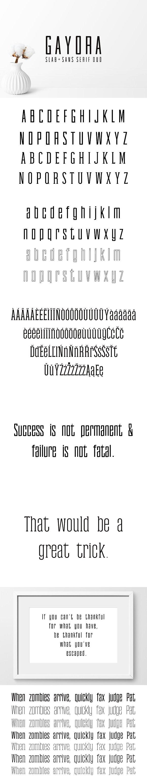 Gayora Slab Serif Duo Font