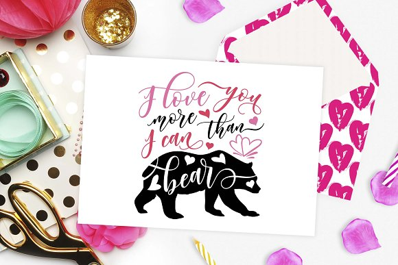 I love you more than I can bear SVG in Illustrations - product preview 1