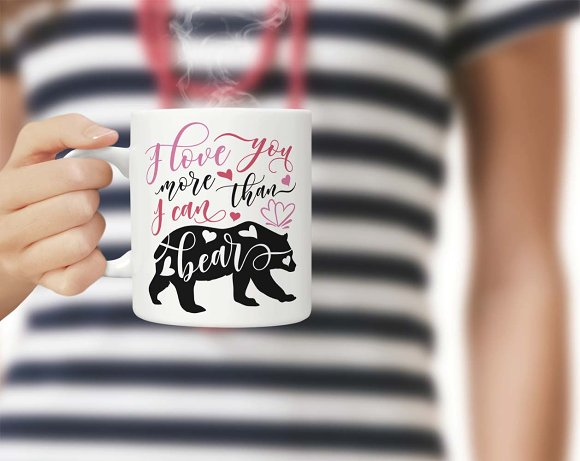 I love you more than I can bear SVG in Illustrations - product preview 2