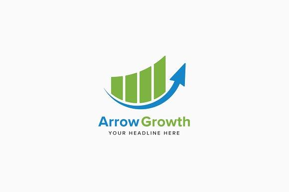 Arrow Growth Logo Template