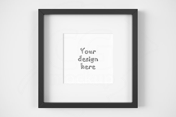 Styled black matted frame mockup in Print Mockups - product preview 1