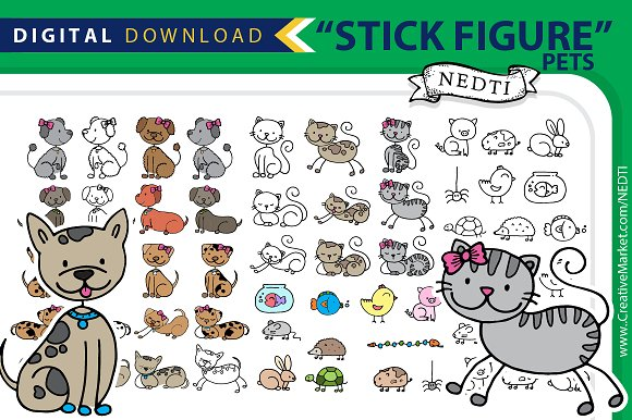 Pets Animal Stick Figure PNG
