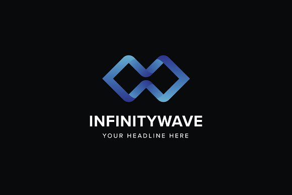 Infinity Wave Logo Template