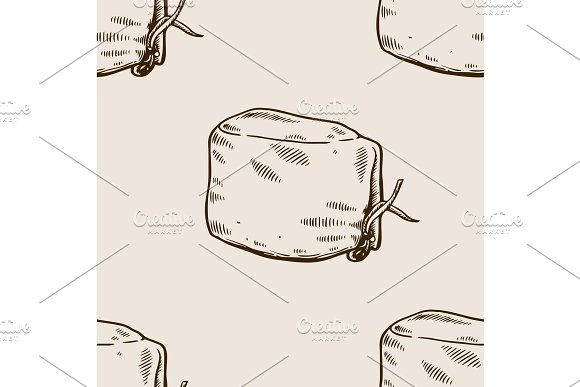 Doctor Hat Seamless Pattern Engraving Vector