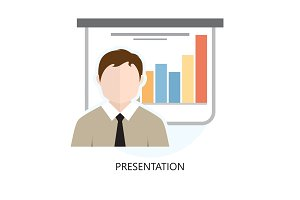 Presentation Icon Flat Design