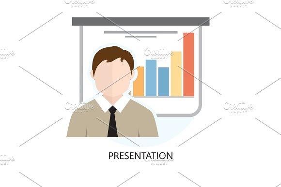 Presentation Icon Flat Design