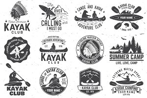 Canoe and kayak club badges
